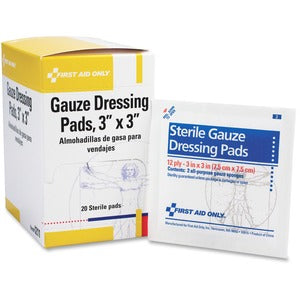 "First Aid Only 3""x3"" Gauze Pads Dispenser Box (Box of 2)"