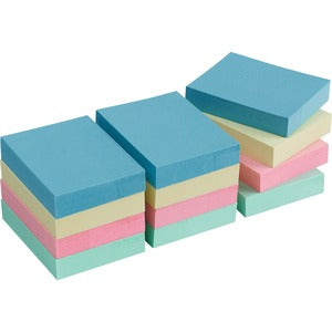 Business Source Premium Plain Pastel Adhesive Notes (Pack of  )