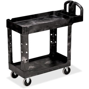 Rubbermaid Commercial HD 2-Shelf Utility Cart with Lipped Shelf (Small)
