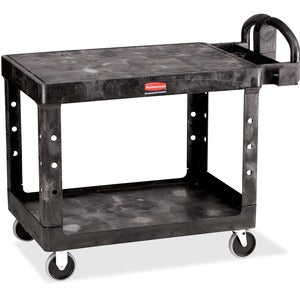 Rubbermaid Commercial 4525 HD 2-Shelf Utility Cart Flat Shelf (Med)
