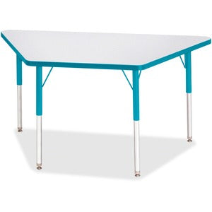 Berries Adult-Size Gray Laminate Trapezoid Table