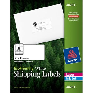 Avery Eco-friendly Mailing Labels (Pack of 250)