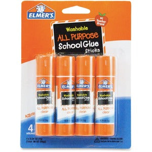 Elmer's Washable All-purpose School Glue Sticks (Pack of 4)