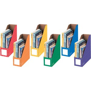 Fellowes Bankers Box Prim/Sec. Clrs Magazine Files (Pack of 6)