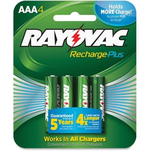 Rayovac PL724-4 Rechargeable AAA Battery (Pack of 4)