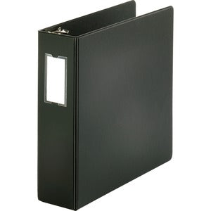 Business Source Basic Round Ring Binder w/Label Holder