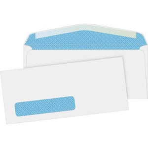 Business Source No. 10 Tinted Diagonal Seam Window Envelopes (Box of  )