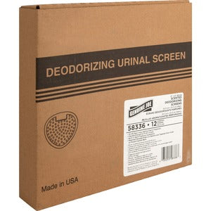 Genuine Joe Deluxe Urinal Screen (Box of 12)