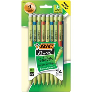 BIC Ecolutions Recycled Mechanical Pencils - Medium Point - 0.7mm (Pack of 24)