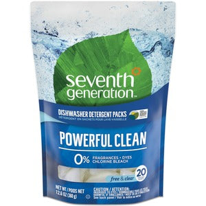 Seventh Generation Natural Dishwasher Detergent Packs (Pack of 20)