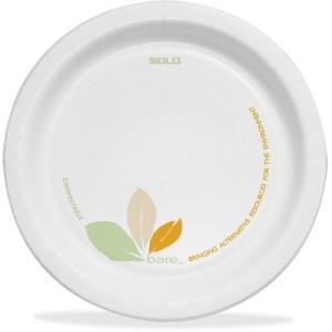 "Bare Paper Dinnerware 8-1/2"" Plates (Carton of 250)"