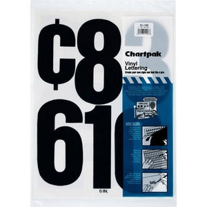 Chartpak Permanent Adhesive Vinyl Numbers (Pack of 21)