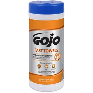 Gojo Fast Towels Hand/Surface Cleaner (Set of 25)