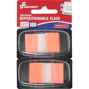 SKILCRAFT Repositionable Self-stick Flags 1x1.75 (Pack of 100)
