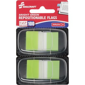 SKILCRAFT Bright Self-stick Marker Flags 1x1.75 (Pack of 100)