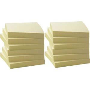 Business Source Yellow Adhesive Notes (Pack of  )