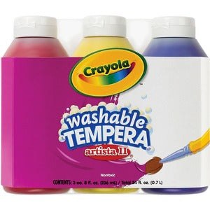Crayola Artista II Washable Tempera Paint (Pack of 3)
