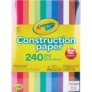 Crayola Construction Paper (Pack of 24 Sheets)