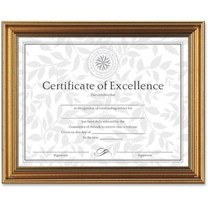 Burns Grp. Antique-colored Certificate Frame