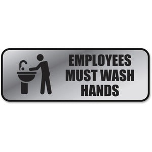 COSCO Employee Wash Hands Sign