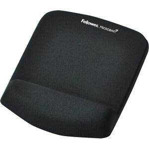 Fellowes PlushTouch Mouse Pad Wrist Rest with Microban - Black