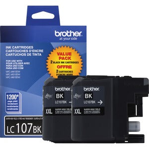 Brother Genuine Innobella LC1072PKS Super High Yield Black Ink Cartridge (Pack of 2)