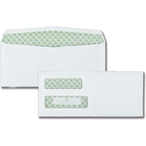 Quality Park Sugarcane Paper Double Window Envelopes (Box of 500)