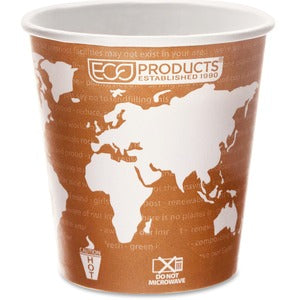 Eco-Products World Art Hot Beverage Cups (Carton of 20 Packs - Each 50)