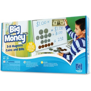 Educational Insights Big Money Magnetic Coins/Bills (Set of  )