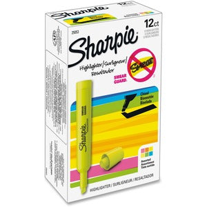 Sharpie SmearGuard Tank Style Highlighters (Set of 12)