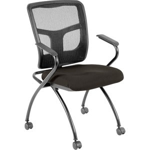 Lorell Mesh Back Fabric Seat Nesting Chairs (Carton of 2)