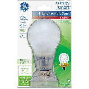 GE Lighting Bright Energy Smart 20W CFL Bulb (Pack of  )