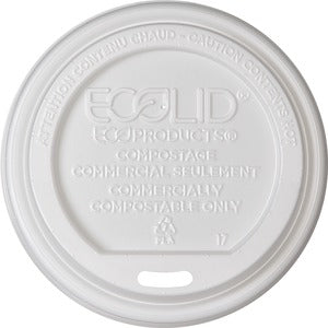 Eco-Products Renewable EcoLid Hot Cup Lids (Carton of 16 Packs - Each 50)
