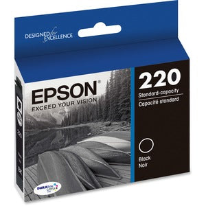 Epson DURABrite Ultra Ink T220 Original Ink Cartridge - Inkjet - Standard Yield - Black - 1 Each