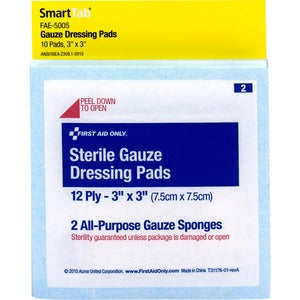 First Aid Only Sterile Gauze Dressing Pads (Pack of  )