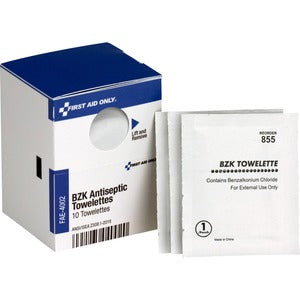 First Aid Only BZK Antiseptic Towelettes (Box of 1)