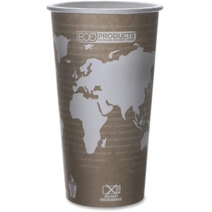 Eco-Products World Art Hot Beverage Cups (Pack of 50)