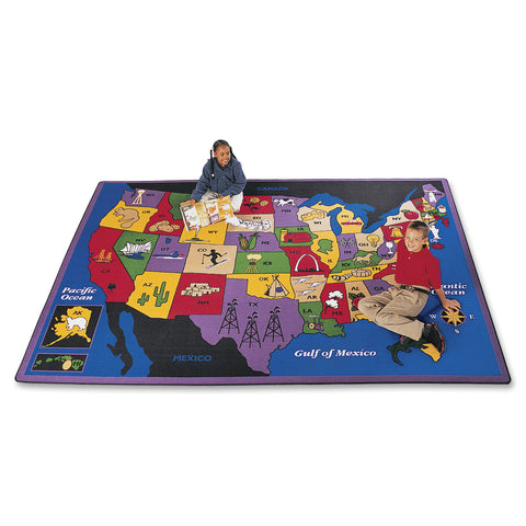 Carpets for Kids Discover America US Map Area Rug