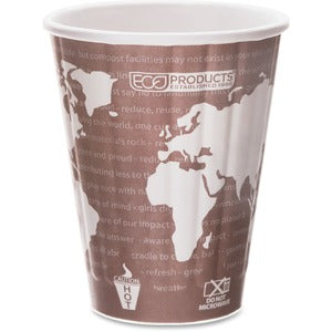 Eco-Products World Art Insulated Hot Cups (Carton of 20 Packs - Each 40)