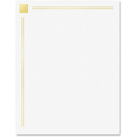 Geographics 24 lb. Business Lttrhd Gold Foil Paper (Pack of 40)