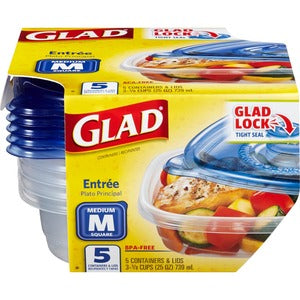 Glad Food Storage Containers (Carton of 6)