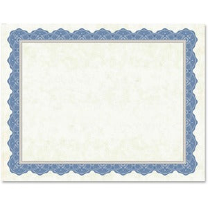 Geographics Drama Blue Border Blank Certificates (Pack of 15 Sheets)