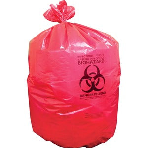 Heritage 1.3 mil Red Biohazard Can Liners (Carton of 1 Box - Each 15 Bags)