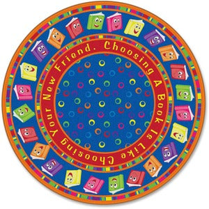 Flagship Carpets Bright CircleTime Books Round Rug