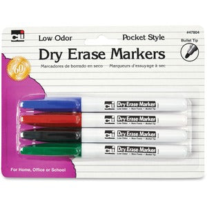 CLI Low Odor Dry Erase Markers (Pack of  )