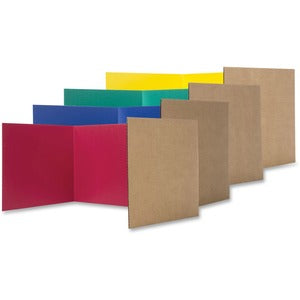 Flipside Color Tri-fold Study Carrel (Pack of 24)