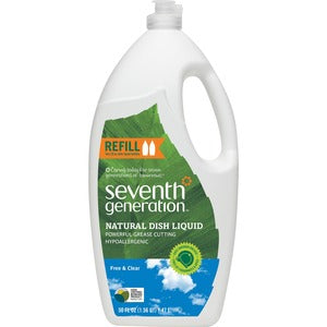 Seventh Generation Free/Clear Natural Dish Liquid (Carton of 6)