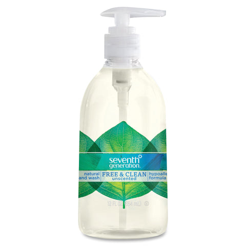 Seventh Generation Free/Clean Unscented Natural Handwash (Carton of 8 Bottles)