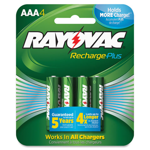 Rayovac Recharge Plus AAA Batteries (Carton of 6 Packs - containing 4 Each)