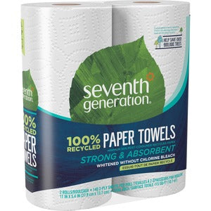 Seventh Generation 100% Recycled Paper Towel Rolls (Carton of 12 Packs - Each 2 Rolls)